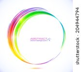 Rainbow Colors Abstract Vector...