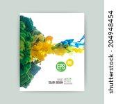 vector abstract cloud. ink...   Shutterstock .eps vector #204948454