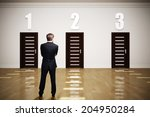 businessman has to choose...   Shutterstock . vector #204950284