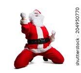 Santa Claus Rejoicing