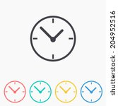 clock icon   vector... | Shutterstock .eps vector #204952516