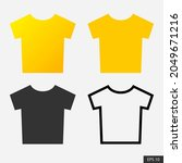 t shirt icon set in flat style...