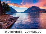 colorful spring sunset in the...   Shutterstock . vector #204968170