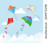 abstract cute kites on a... | Shutterstock .eps vector #204972298
