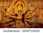 Goddess Durga Idol Decorated At ...