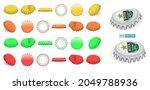 set of realistic crown bottle...   Shutterstock .eps vector #2049788936