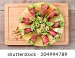 appetizer with bresaola... | Shutterstock . vector #204994789