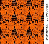 seamless pattern with related... | Shutterstock . vector #2049989486