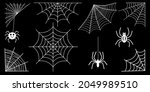 spider web collection isolated... | Shutterstock .eps vector #2049989510