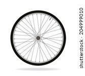bike wheel   vector... | Shutterstock .eps vector #204999010