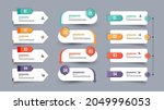 infographics element collection ... | Shutterstock .eps vector #2049996053