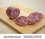 Salami Slices. Dried Sausage....