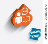 byod sign icon. bring your own... | Shutterstock .eps vector #205002070