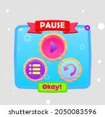 game ui pause popup window...