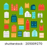 vector silhouettes of city... | Shutterstock .eps vector #205009270