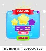 game ui you win popup window...