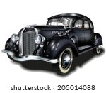 retro car. | Shutterstock .eps vector #205014088