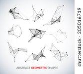 set of abstract vector... | Shutterstock .eps vector #205016719