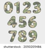 vector military camouflage... | Shutterstock .eps vector #2050205486