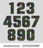 vector military camouflage... | Shutterstock .eps vector #2050205489