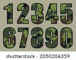 vector camouflage military... | Shutterstock .eps vector #2050206359