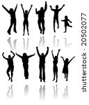 ten silhouettes of people... | Shutterstock .eps vector #20502077
