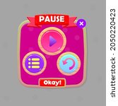 game ui  pause pop up window...