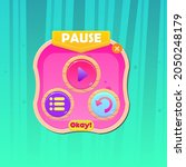 game ui button window pause pop ...