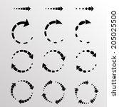circular arrows  | Shutterstock .eps vector #205025500