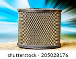 yellow air filters for use... | Shutterstock . vector #205028176