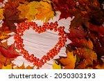 Autumn Heart Of Rowan Berries ...