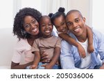 happy family posing on the...   Shutterstock . vector #205036006