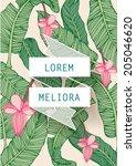 banana leaf  tropical leaf...   Shutterstock .eps vector #205046620