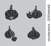 garlic icons | Shutterstock .eps vector #205046668