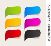 speech bubble | Shutterstock . vector #205057540