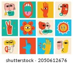 big set of different colored... | Shutterstock .eps vector #2050612676