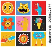 big set of different colored... | Shutterstock .eps vector #2050612679