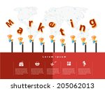 modern business marketing text... | Shutterstock .eps vector #205062013