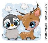 winter illustration of cute...   Shutterstock .eps vector #2050658879