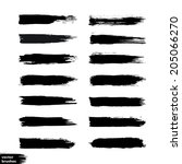 vector set of grunge brush... | Shutterstock .eps vector #205066270