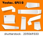 paper notes and scraps attached ... | Shutterstock .eps vector #205069333
