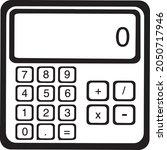calculator icon vector isolated ...