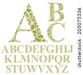 Vintage Style Floral Letters...