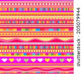 pink strip pattern. vector... | Shutterstock .eps vector #205079944