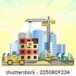 construction of large city...   Shutterstock .eps vector #2050809236