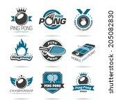 Ping Pong Icon Set   3