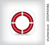 Life Buoy Red With Rope...