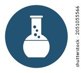 Conical Flask White Glyph With...