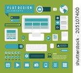 business concept social media... | Shutterstock .eps vector #205107400