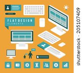business concept social media... | Shutterstock .eps vector #205107409